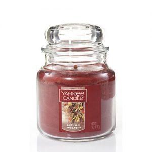 Autumn Wreath Medium Jar Candle